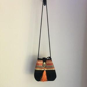 Handbags - Small Purse Egyptian Orange Black Boho Bohemian